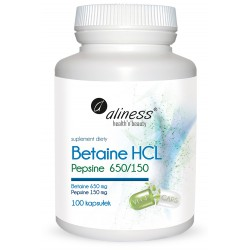Betaine HCL, Pepsyna...